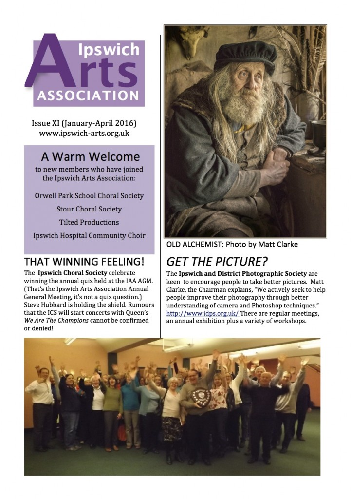 Ipswich Arts News Dec 15 front page