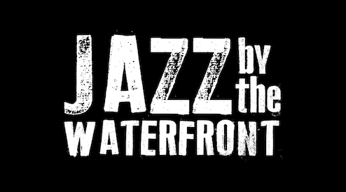 logo for jazz by the waterfront. St Peter's Ipswich.