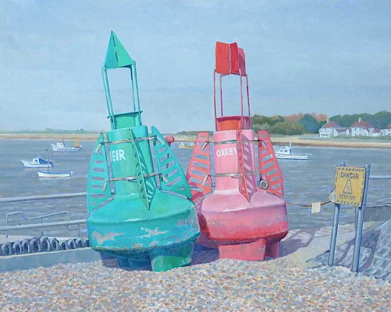 painting, Two Bouys by Brian Perry